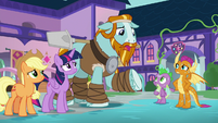 Rockhoof -not used to living with dragons- S8E21