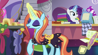 Sassy Saddles sighing with relief S7E6