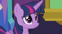 Twilight Sparkle in mild amusement S5E20