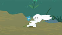 Angel pulls harder on the flower S8E18