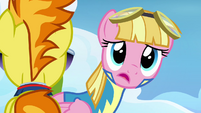 Pink pegasus looking past Spitfire S3E7