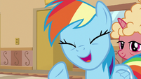 Rainbow Dash asking for a ticket S8E5