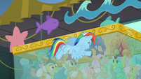 Rainbow pushing the water tank over S8E5