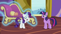 Rarity produces another fainting couch S9E19