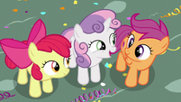 "Sweetie Belle calls Scootaloo ""pretty amazing"" S6E19"
