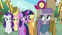 """Twilight """"why did you pack up all of Pinkie's things?"""" S8E18"""