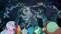 Young Six return to the cavern entrance S8E22