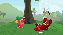 Discord sitting in a recliner S9E23