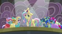 Fluttershy appears as Princess Celestia S8E7