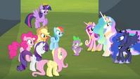 """Mane 6 and princesses """"you guess?!"""" S4E24"""