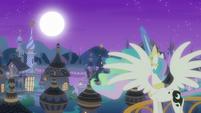 Princess Celestia raising the moon S7E10