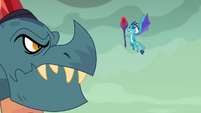 Princess Ember lectures her father S6E5