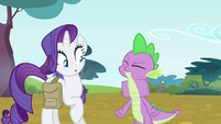 Spike swallows the book S4E23