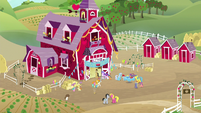 Wide view of Sweet Apple Acres S8E18