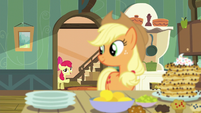 Apple Bloom enters the kitchen S5E4
