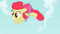 Apple Bloom leaping through the hoop S2E06