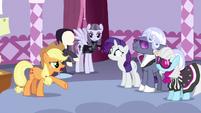 Applejack -to ponies like me, it's still black- S7E9