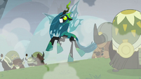 Chrysalis unable to keep her balance S9E25