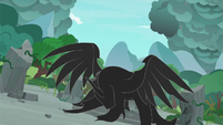 Figure of darkness taking a pony shape S7E25