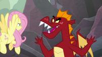 "Garble calls Spike a ""pony-dragon"" S9E9"