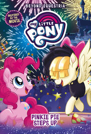 Portada del libro My Little Pony Pinkie Pie Steps Up.jpg