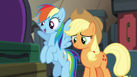 """Rainbow """"you don't have to play against Appleloosa"""" S6E18"""