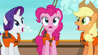 Rarity, Pinkie, and AJ have a collective realization S6E22