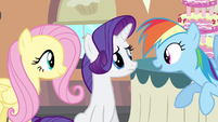 Rarity & Rainbow Dash eye to eye S2E24