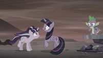 Starlight jumps in front of Twilight S5E26