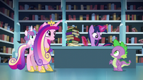 Twilight --You better go with her, Spike-- S6E2