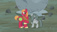 Big McIntosh and Marble Pie blushing S5E20