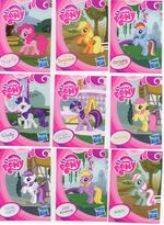 EU wave 1 mystery packs scans - Pinkie Pie, Applejack, Rainbow Dash, Rarity, Twilight Sparkle, Sugar Grape, Lily Blossom, Minty