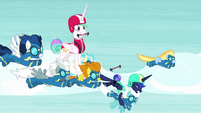 Luna grabbing Fleetfoot in terror S9E13