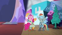 """Rainbow and Pinkie Pie cheer """"guys' night!"""" S6E17"""