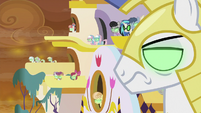 Sombrafied ponies glaring at the Mane Six S9E2
