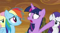 "Twilight ""against the citizens of Equestria!"" S9E2"