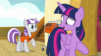 "Twilight Sparkle ""as long as Shining Armor gets to race"" S7E22"