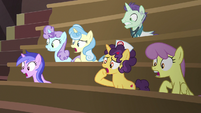 Viewing gallery ponies in complete shock S6E23
