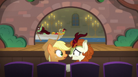 AJ and Autumn Blaze watching the musical S8E23