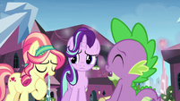 Crystal Pony 1 talking about Spike S6E1
