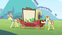 Flim and Flam with their cart S4E20