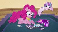 Flurry Heart flying around Pinkie Pie BFHHS3