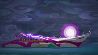 Rainbow Dash creates a burst of light EGSB