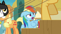 Rainbow impatiently watches the grannies board S8E5