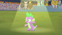 Spike posing at the end of the song S4E24