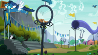 The Wonderbolts' practice grounds S7E21