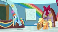 Applejack takes her hat back from Dash BGES1