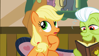 """Applejack thinking """"new cooking materials"""" S3E8"""