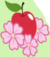 Apple and three apple blossoms