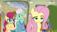 Mr. and Mrs. Shy surprised by Fluttershy's attitude S6E11